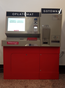 Payment station in the City Hall of Opole.