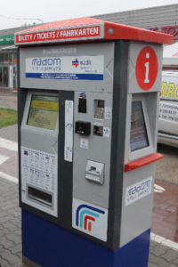 Stationary BS-206 TVM on the streets of Radom.