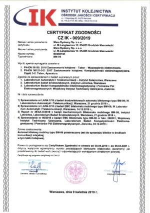 Mobilny biletomat BM-06 z certyfikacją kolejową